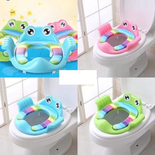 Ghế ngồi toilet hình ếch cho bé