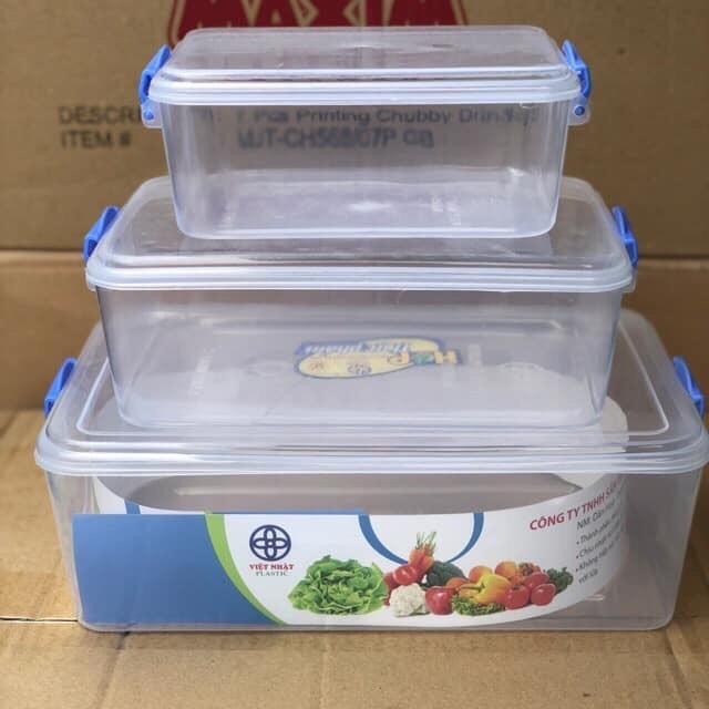Bộ 3 hộp đựng thực phẩm Việt Nhật