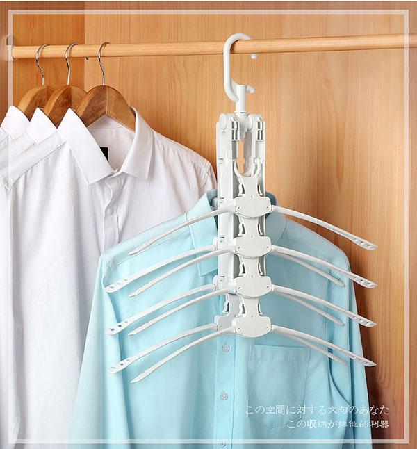 Móc treo quần áo đa năng gập gọn