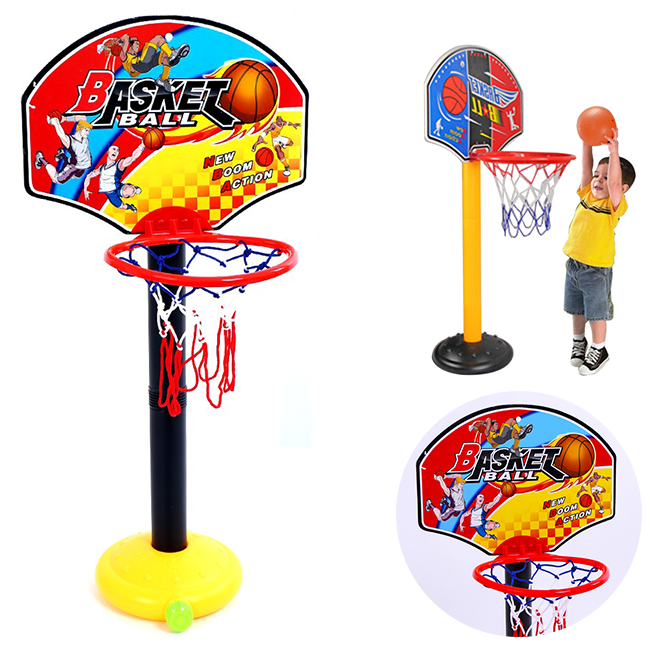 Bộ bóng rổ trụ nhựa, cao 110cm cho trẻ bé