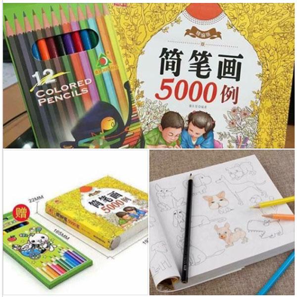 Sách tô 5000 hình kèm bút