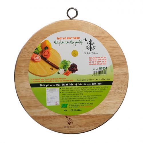Thớt gỗ tròn Đức Thành (02051) (24x1,5cm)