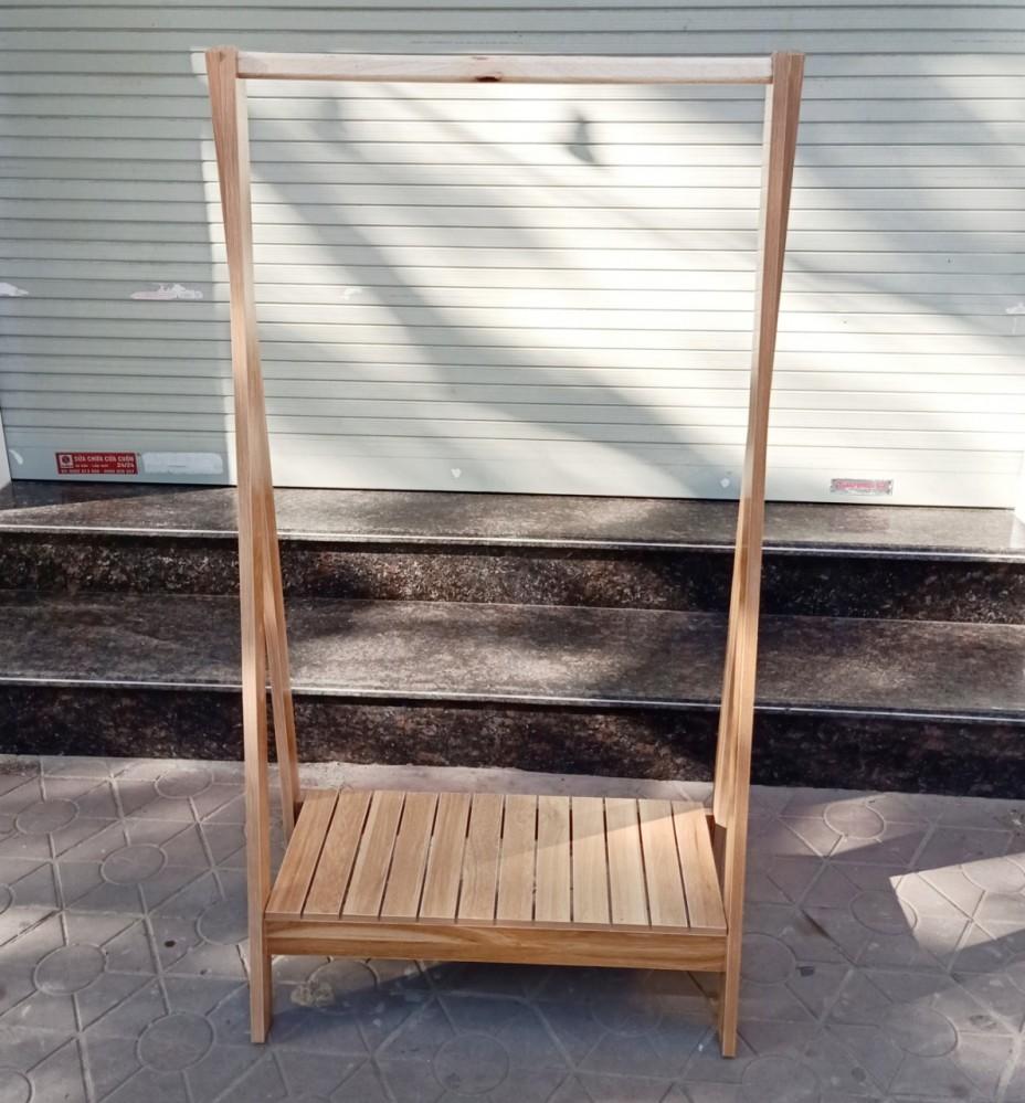 Kệ gỗ treo quần áo chữ A 1 tầng