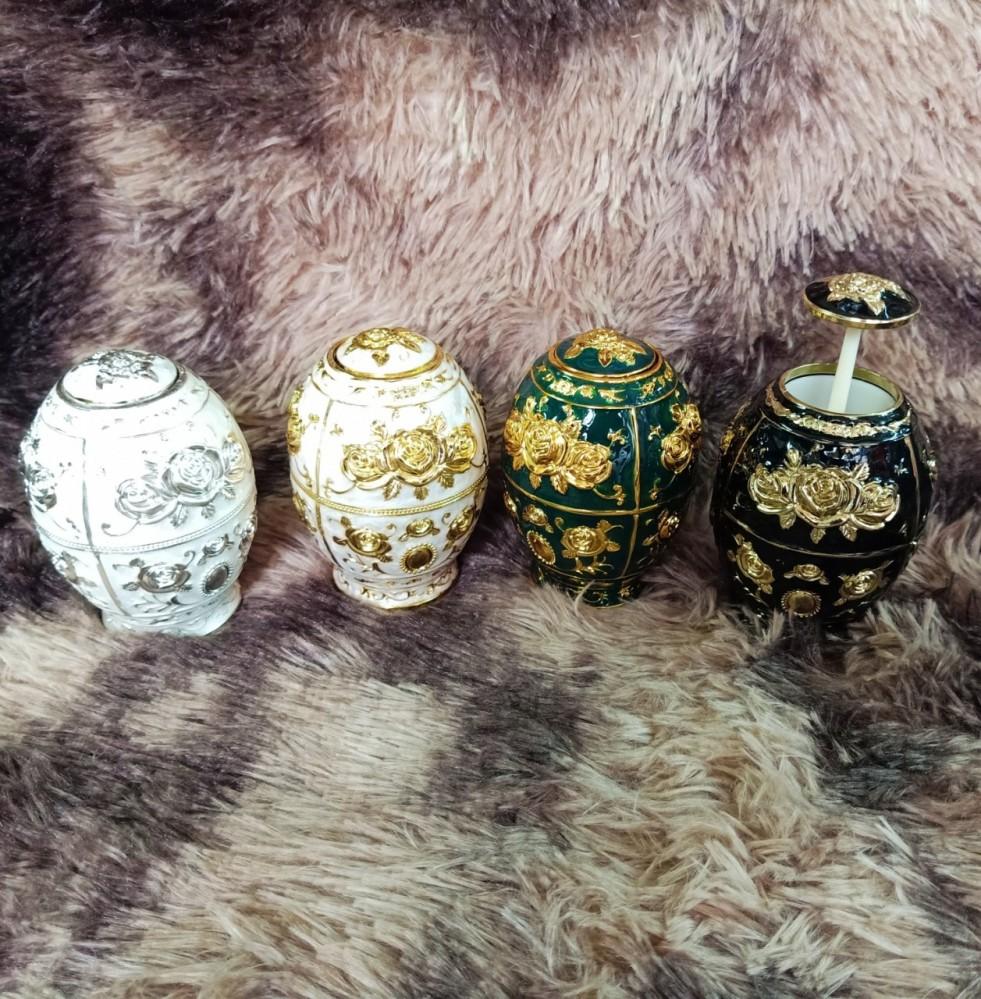 Lọ tăm hoàng gia (vàng, đen, trắng, xanh)