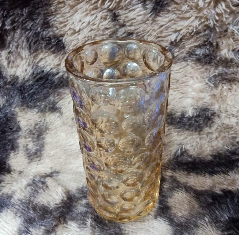 Lọ hoa 30cm vàng ống