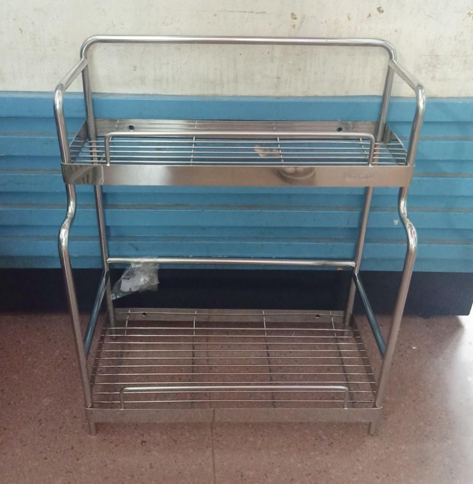 Giá nhà tắm/gia vị 2 tầng lệch inox 304 35cm