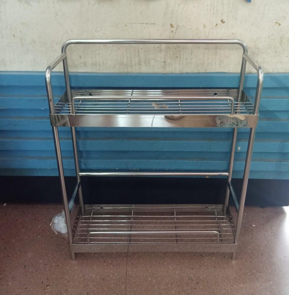 Giá nhà tắm/gia vị 2 tầng 35cm, inox 304