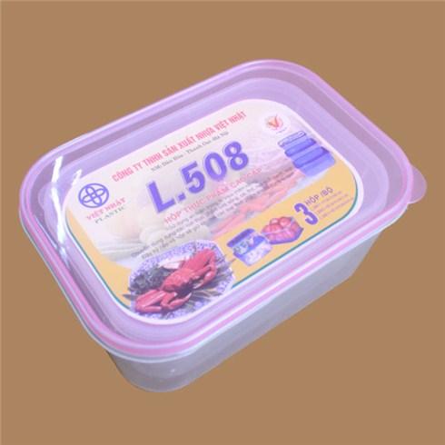 Bộ 3 hộp đựng thực phẩm Việt Nhật (508)