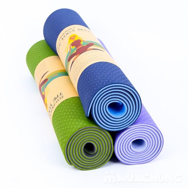 Thảm tập yoga 2 lớp TPE 6mm (kèm túi dù đen)