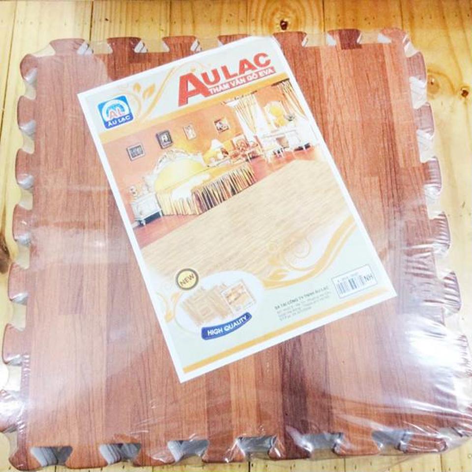 4 miếng thảm xốp vân gỗ Âu Lạc 60x60cm