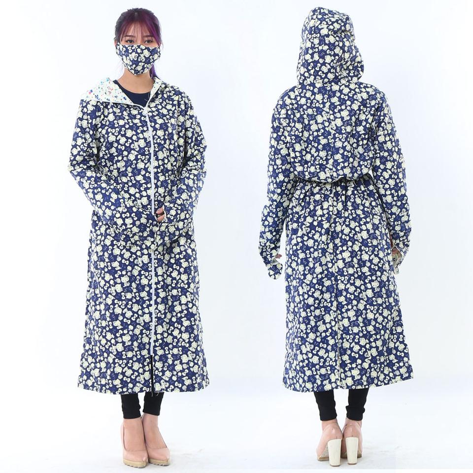 Áo chống nắng toàn thân 2 lớp kèm 2 khẩu trang