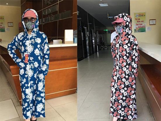 Áo chống nắng lanh toàn thân 2 mặt + khẩu trang