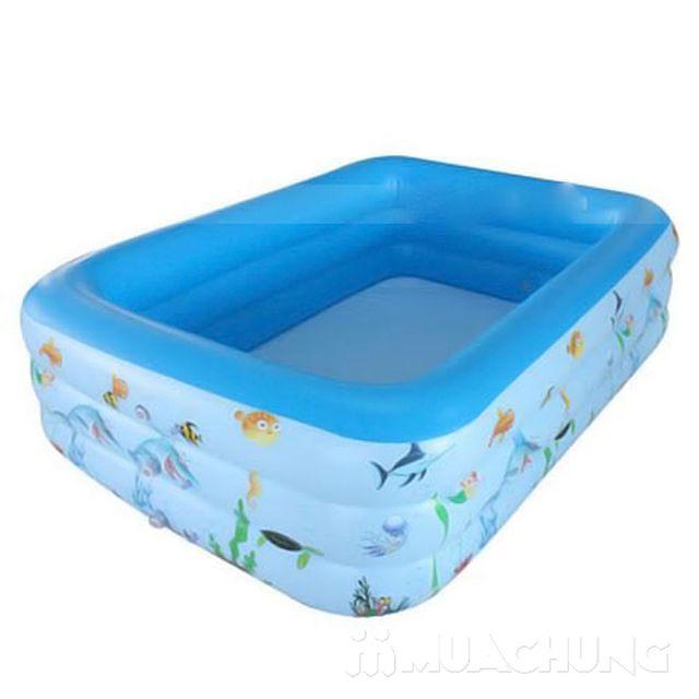 Bể bơi chữ nhật 150x100x45cm (3 tầng)