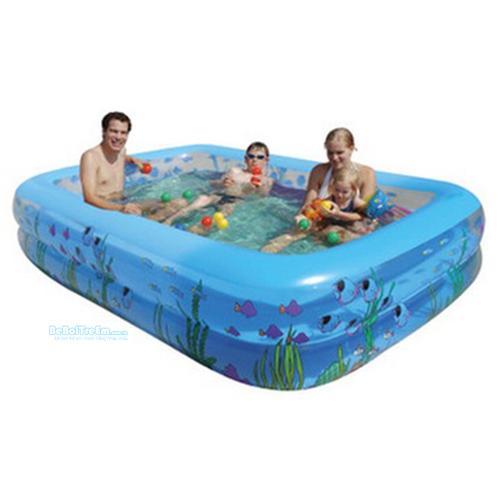 Bể bơi chữ nhật 210x140x45cm (2 tầng)