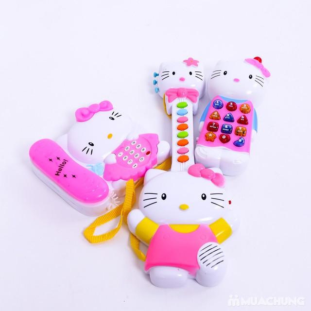 Bộ đàn và điện thoại Hello Kitty phát nhạc cho bé