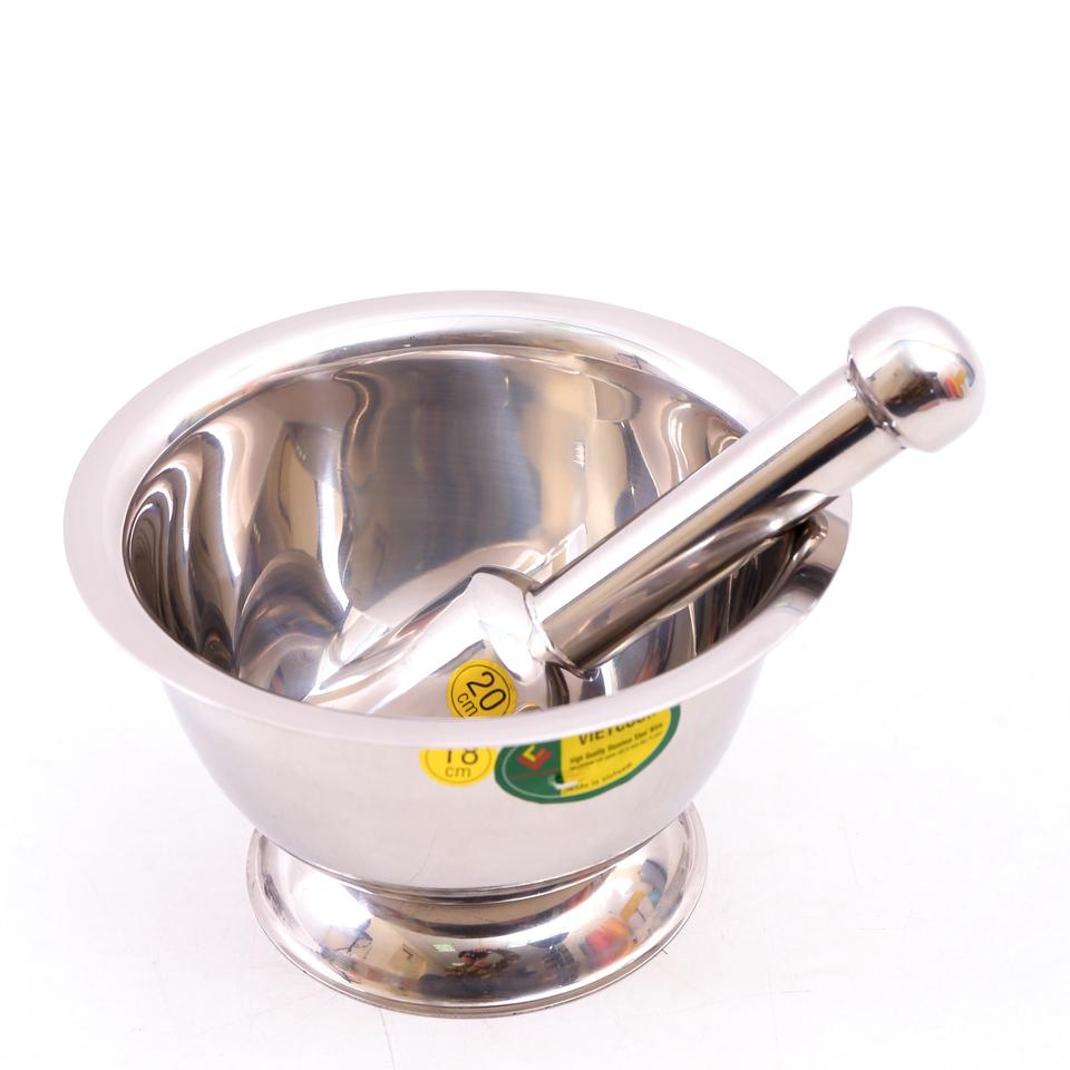 Bộ chày cối inox cỡ to (ĐK 18cm)