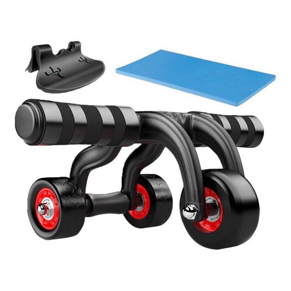 Con lăn tập thể dục 4 bánh (kèm thảm, chặn)