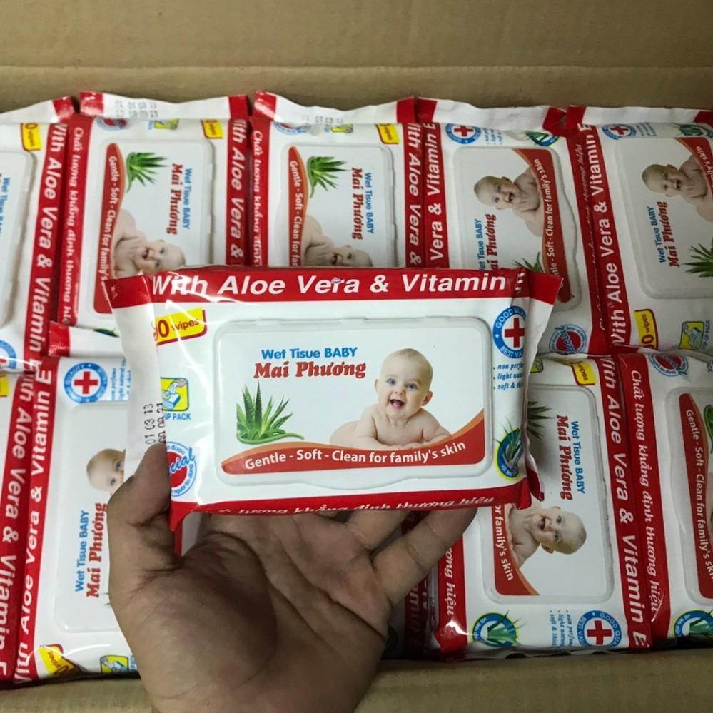 Giấy ướt Mai Phương (1 gói 80 tờ)