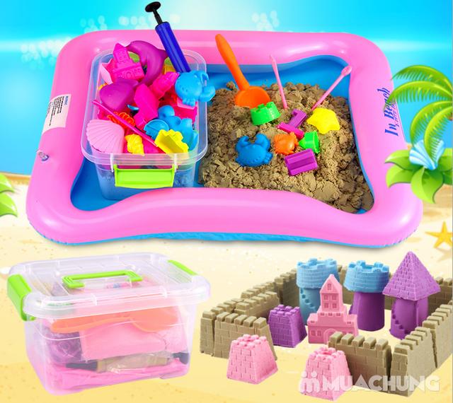 Hộp đồ chơi cát nặn kèm phao, khuôn cho bé