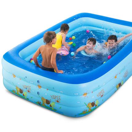 Bể bơi chữ nhật 180x140x55cm (3 tầng)