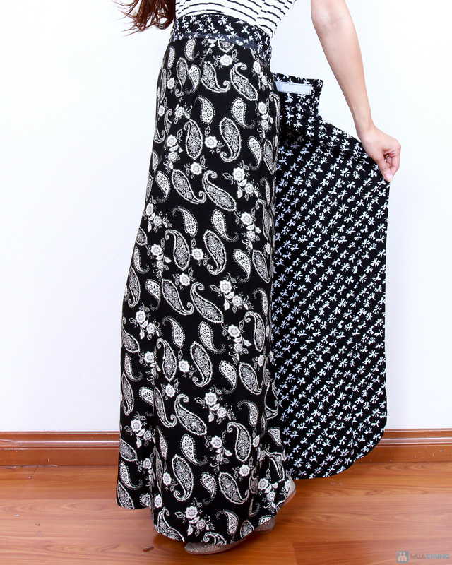 Váy chống nắng 2 mặt vải lanh đẹp